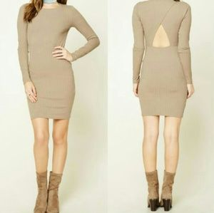 ❤Forever21 fitted ripped cut out dress